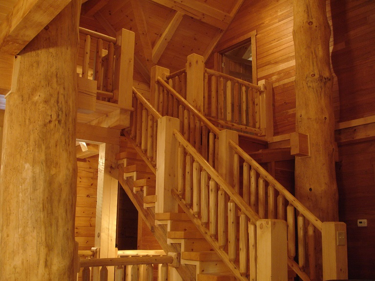 Chalet Great Room Stairs