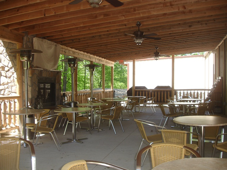 Hocking Hills Winery patio!